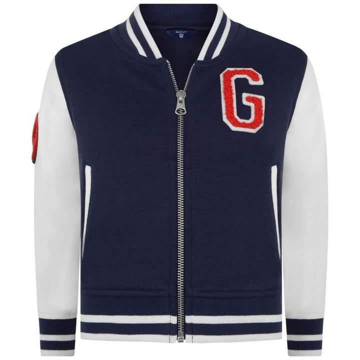 GantBoys Navy Varsity Jacket