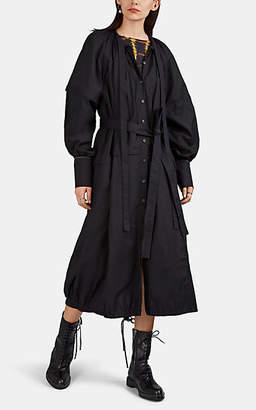 Proenza Schouler Women's Cotton Voile Flap-Detailed Shirtdress - Black