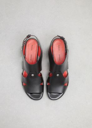 Proenza Schouler black leather sandal $650 thestylecure.com
