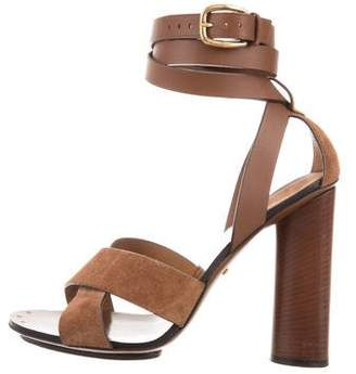Gucci Suede Multistrap Sandals