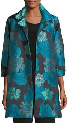 Caroline Rose Gilded Lilly Jacquard Party Jacket, Plus Size