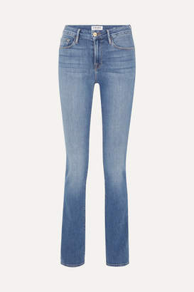 Frame Le Mini High-rise Bootcut Jeans - Blue