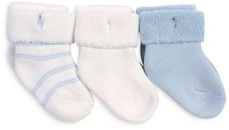 Ralph Lauren Boys' Terry Socks, Pack of 3 - Baby