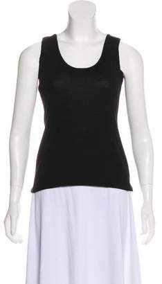 Alberta Ferretti Scoop Neck Sleeveless Top