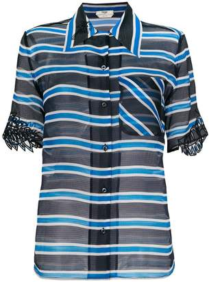 Fendi striped sheer blouse