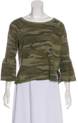 Current/Elliott Bell Sleeve Camouflage Sweatshirt