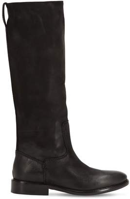 Strategia 20mm Vintage Leather Tall Boots