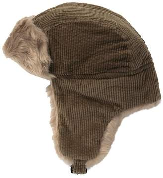 Public Opinion Faux Fur Trimmed Corduroy Trapper Hat