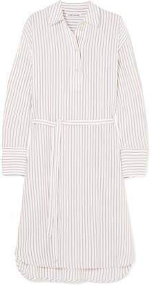 Elizabeth and James Tawerence Oversized Striped Gauze Shirt - White