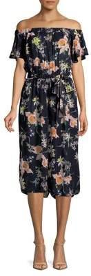 Dorothy Perkins Off-The-Shoulder Floral Jumpsuit