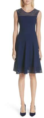 Akris Punto Eyelet Fit & Flare Dress