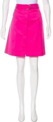 Akris Punto Button-Up Knee-Length Skirt