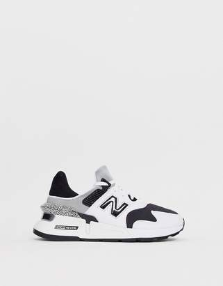 New Balance 997S trainers in black & white