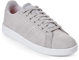 adidas Grey & White Neo Cloudfoam Advantage Clean Low-Top Sneakers