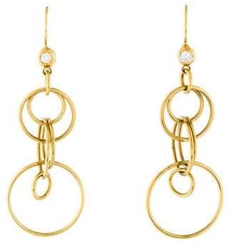 Ippolita 18K Diamond Circle Drop Earrings