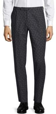 Incotex Leaf Jacquard Skinny Pants
