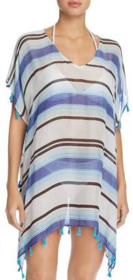 Surf Gypsy Stripe Tassel Tunic Swim Cover-Up