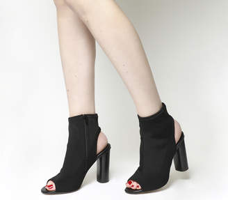 Office Ariana Peep Toe Block Heel Boots