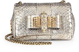 Christian Louboutin Sweet Charity Python Cosmo Shoulder Bag