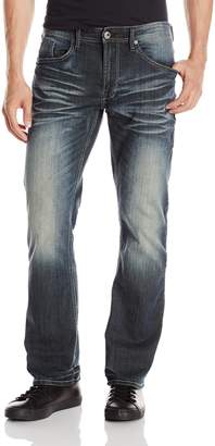 Buffalo David Bitton Men's Driven Straight Leg Jean in Faded Wash Stretch Denim