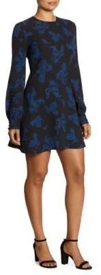 A.L.C. Lauren Printed Long Sleeve Dress