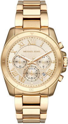 Michael Kors Women's Chronograph Brecken Gold-Tone Stainless Steel Bracelet Watch 40mm MK6366 $275 thestylecure.com