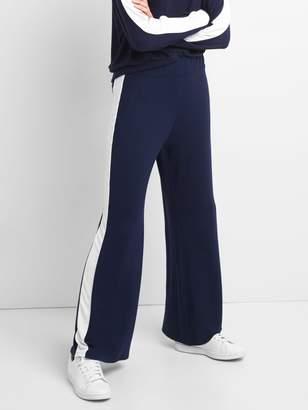 Gap Softspun Wide-Leg Pants with Side Stripe