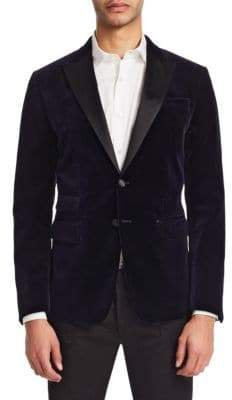 DSQUARED2 London Fit Velvet Dinner Jacket