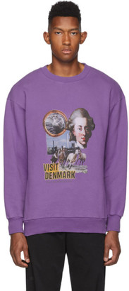 Han Kjobenhavn Purple Artwork Crewneck Sweatshirt