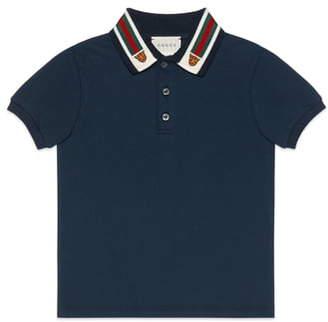 Gucci Stripe Collar Polo