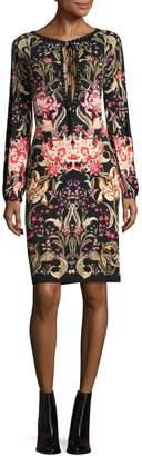 Roberto Cavalli Women's Lace-Keyhole Sheath Dress