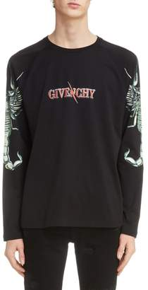 Givenchy Scorpio Fire Graphic Long Sleeve T-Shirt