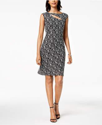 Connected Petite Embellished Lace Sheath Dress