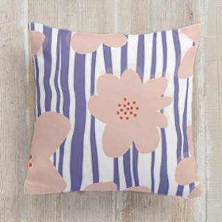 Happy Blossoms Square Pillow