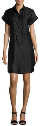 Rag & Bone Ara Short-Sleeve Poplin Shirtdress, Navy