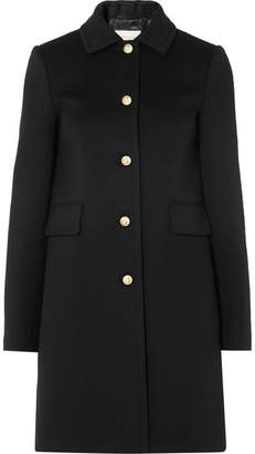 Gucci Faux Pearl-embellished Wool Coat - Black