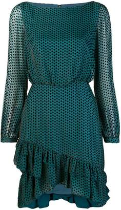 Saloni geometric pattern dress