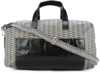 K/A/R/T graphic patterned weekender bag
