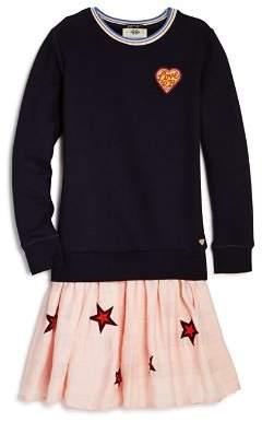 Scotch & Soda Girls' Sweatshirt Star Dress - Little Kid, Big Kid