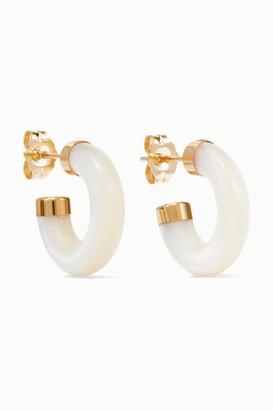 Mother of Pearl Loren Stewart - Stone Gold Mother-of-pearl Hoop Earrings - one size