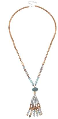 Nakamol Design Beaded Tassel Necklace