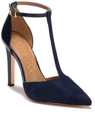 Calvin Klein Brandy Suede & Leather Stiletto