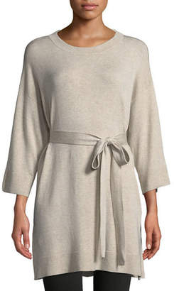 Eileen Fisher 3/4-Sleeve Cozy Stretch Tencel Tunic w/ Belt