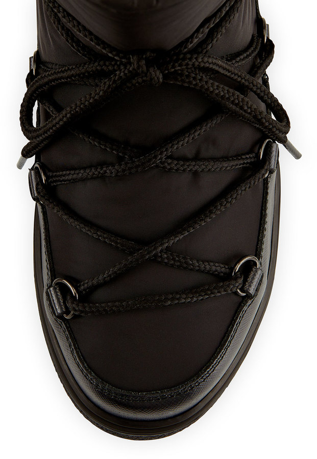 Moncler Fanny Lace-Up Ankle Boot, Black