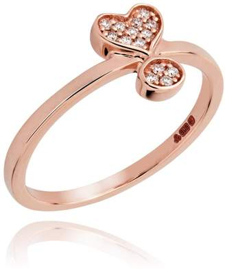 Lark & Berry Exclamation Diamond Pave Ring Rose Gold