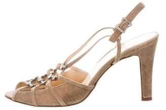 Isabella Fiore Embellished Slingback Sandals