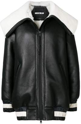 House of Holland shearling varsity jacket