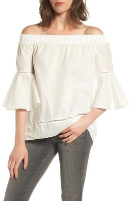 Women's Chelsea28 Bell Sleeve Off The Shoulder Top $69 thestylecure.com