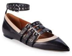 Valentino Strappy Leather Ballet Flats