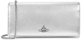 Vivienne Westwood Pimlico Silver Leather Wallet-on